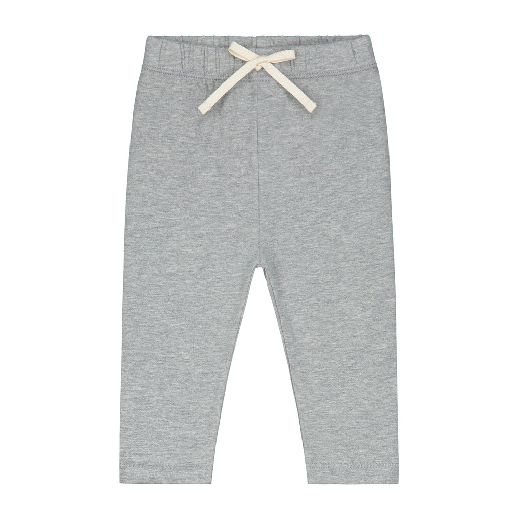gray label baby leggings grey melange - kodomo boston, fast shipping, organic cotton baby bottoms
