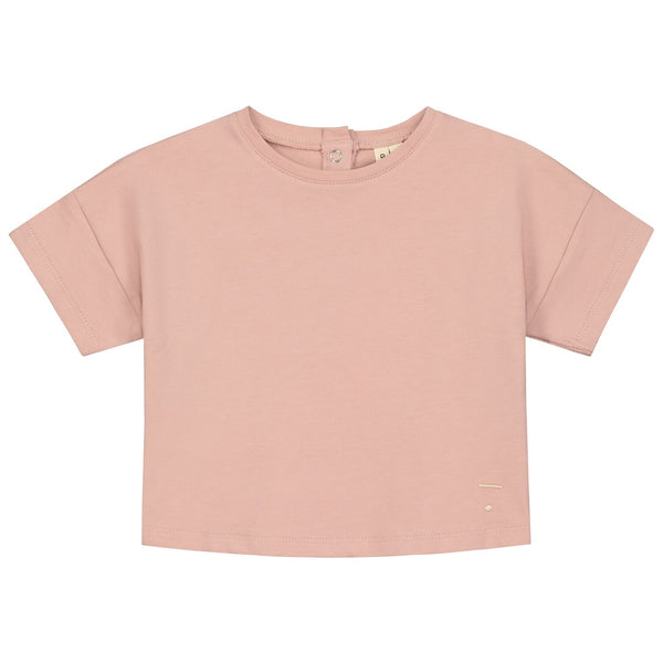gray label oversized crop tee vintage pink - kodomo