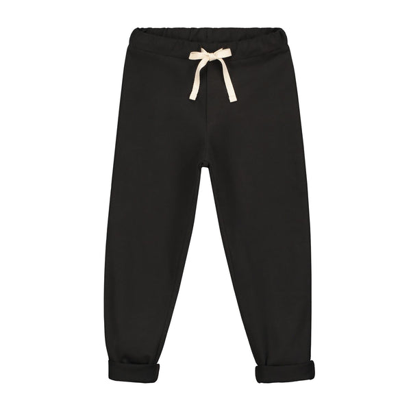 gray label relaxed jersey pants nearly black - kodomo