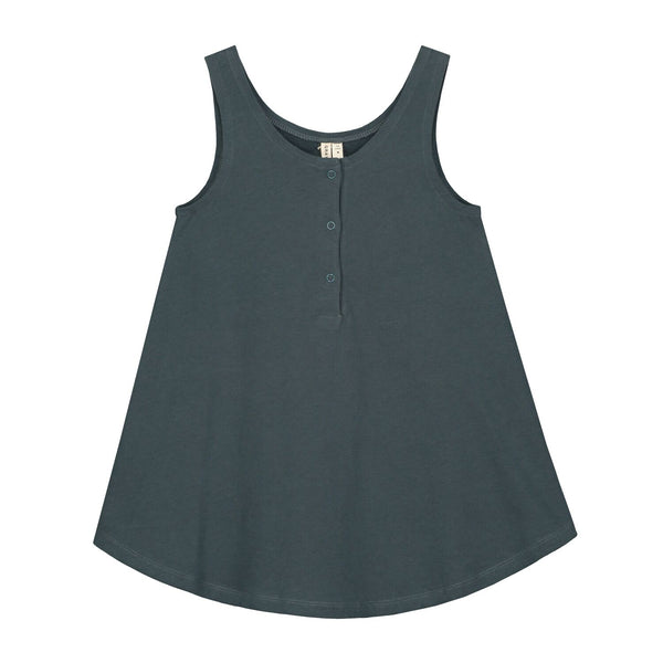 gray label tank dress blue grey - kodomo
