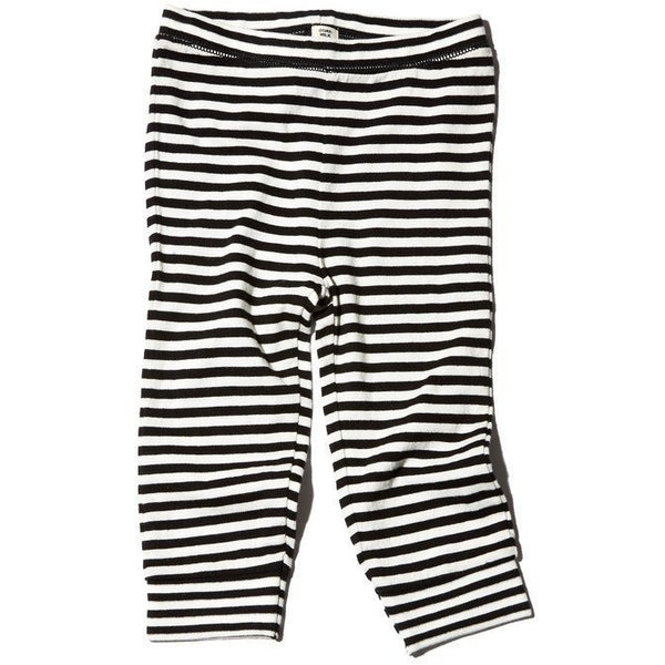 goat-milk baby thermal pant striped - kodomo boston. free shipping.