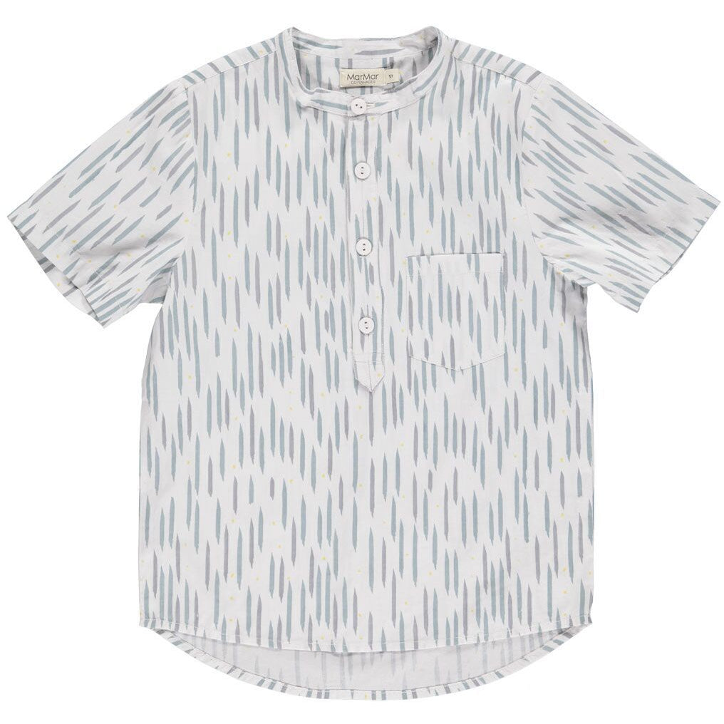 marmar copenhagen new spring summer boys collection theodor short sleeve shirt moondust blue stripe - free fast shipping on all orders over $99 from kodomo