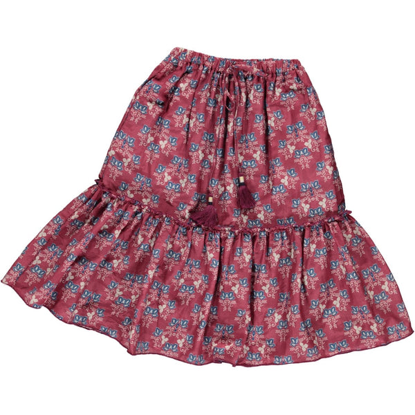 simple kids giza skirt plum, free shipping kodomo boston