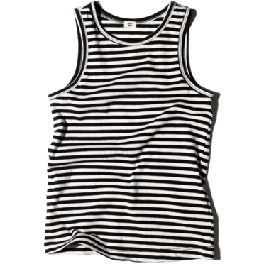 goat-milk stripes tank top - kodomo boston. free shipping.