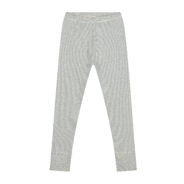 gray label leggings grey melange/ cream stripe, kids organic cotton bottoms