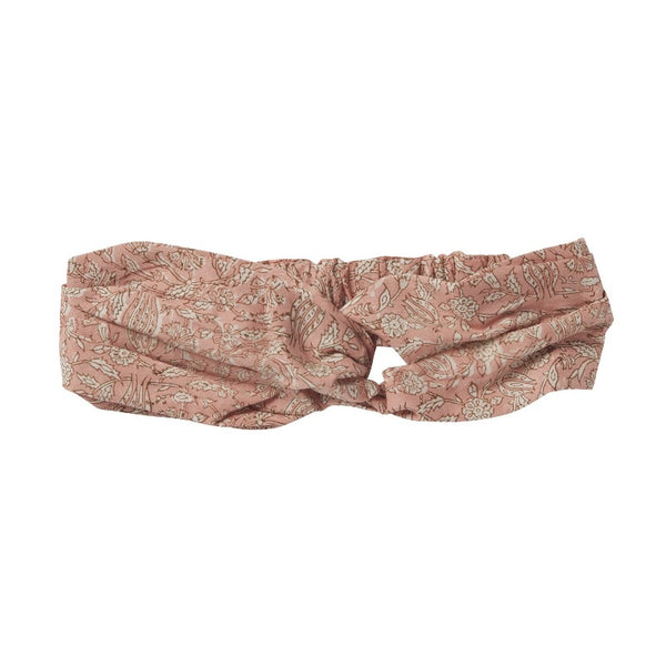 bonheur du jour indian floral headband terracota, girls cotton hair accessories
