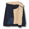 finger in the nose hooper zipped hoodie sailor blue - kodomo boston, free shipping