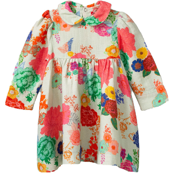 oilily djentle dress infinity rose light green, fw20 ethical fall fashion for kids at kodomo boston, free shipping