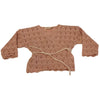 babe and tess baby summer collection wrap sweater powder pink - free fast shipping on all orders over $99 from kodomo