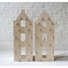maquette kids clock gable dollhouse, minimalistic style wooden doll house, pretend play for children, fast free shipping kodomo boston