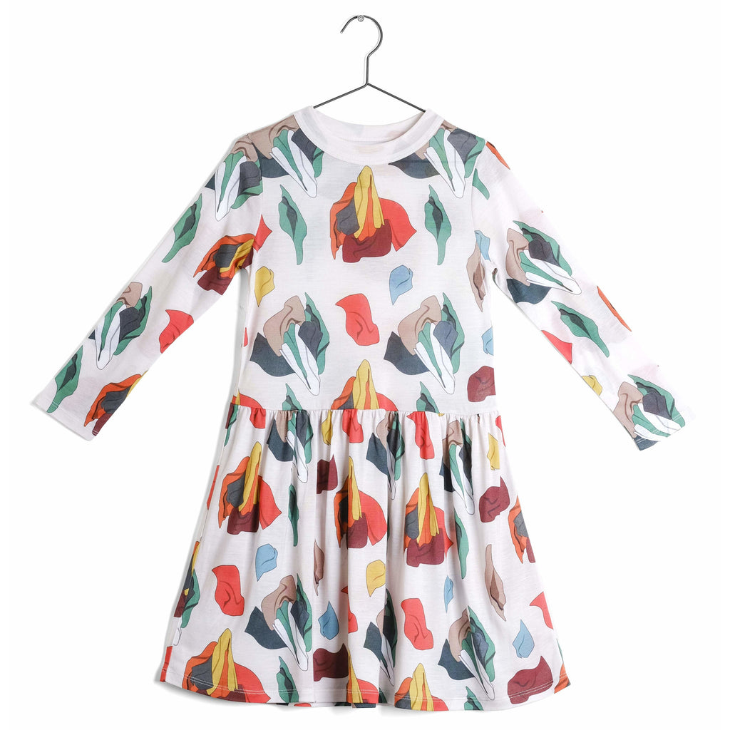 wolf & rita josephina samba - kodomo boston, soft girls dresses, print dress for girls.