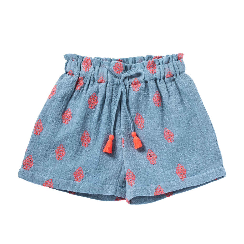 bonheur du jour new spring summer girls collection ombeline shorts flowers blue - free fast shipping on all orders over $99 from kodomo