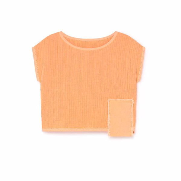 little creative factory oversize neon crop top, kids clothes available at kodomo boston.