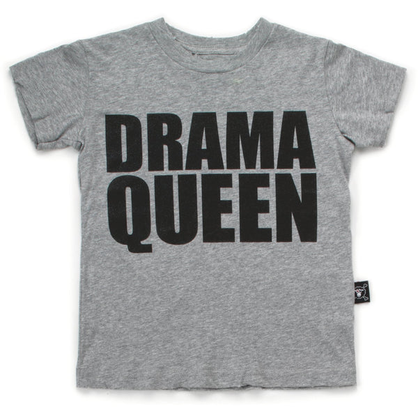 nununu new spring summer girls & baby collection drama queen t-shirt in heather grey - free fast shipping on all orders over $99 from kodomo