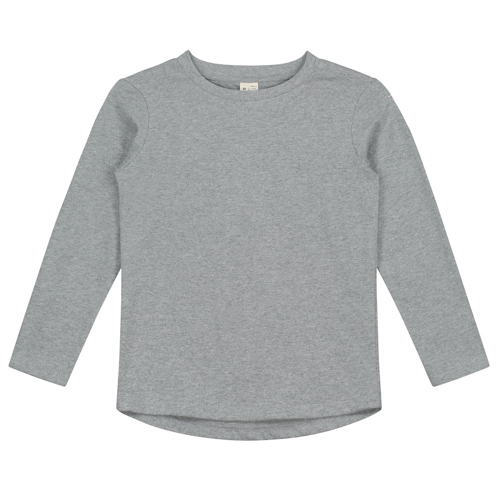 gray label long sleeve tee grey melange, new gray label fall winter collection at kodomo boston. free shipping