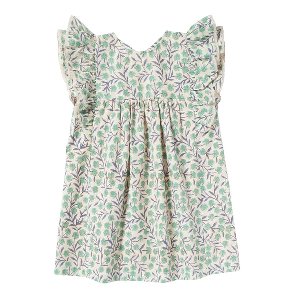 bonheur du jour lucile flowers dress green, free shipping kodomo boston