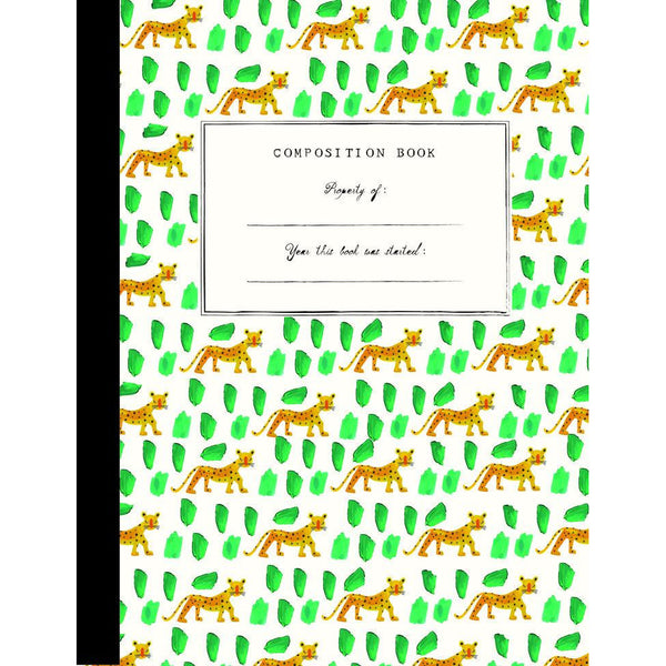 mr.boddington's composition notebook leopards, creative school art crafts supply for kids kodomo boston