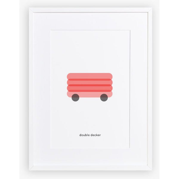 maison deux minimal print double decker - kodomo boston. free shipping.