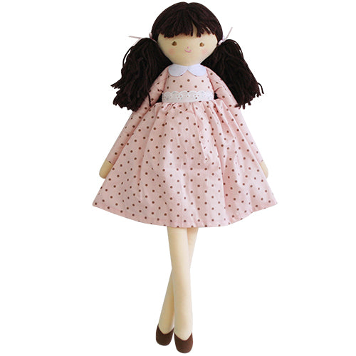 alimrose pippa doll pink spot, children plush dolls