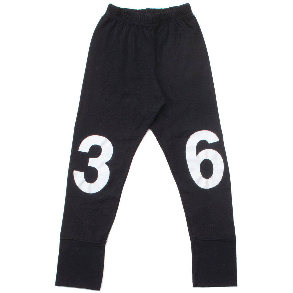 nununu numbered leggings black - kodomo