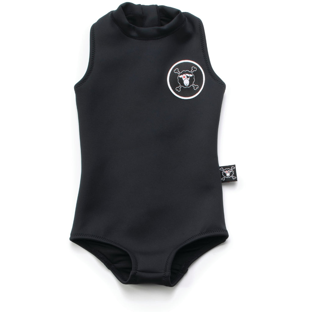 nununu sleeveless scuba swimsuit black - kodomo