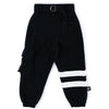 nununu cargo sweatpants black - kodomo boston, fast shipping, kids cargo pants, soft kids sweatpants