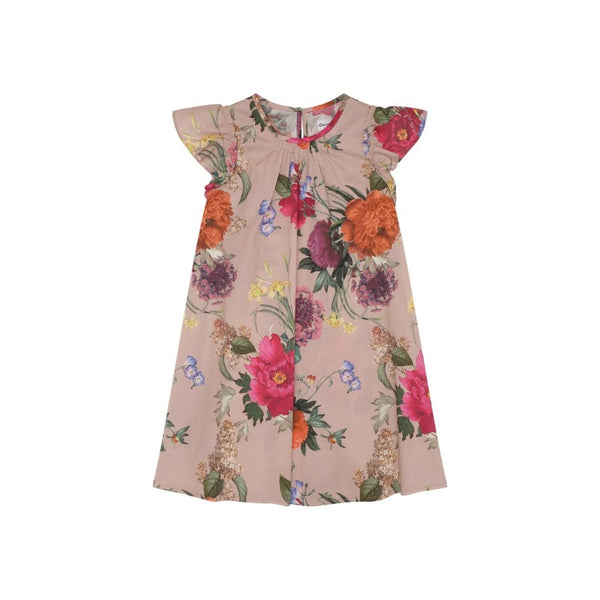 christina rohde floral dress pale rose, girl's eco-cotton dresses