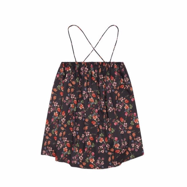 christina rohde sleeveless dress black floral, girl's mini dresses