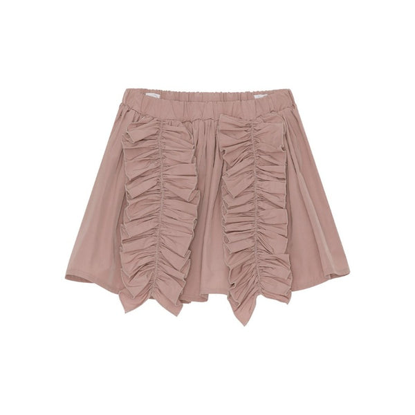 christina rohde ruffled skirt pale rose, girl's cotton bottoms