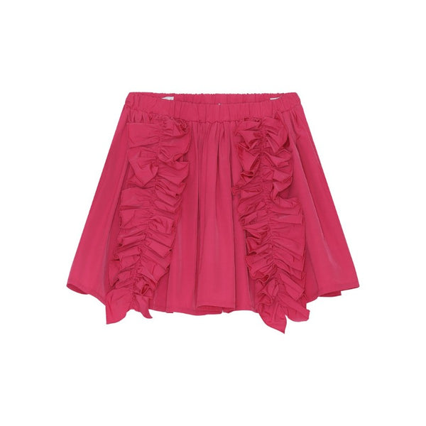 christina rohde ruffled skirt pink, girl's cotton bottoms