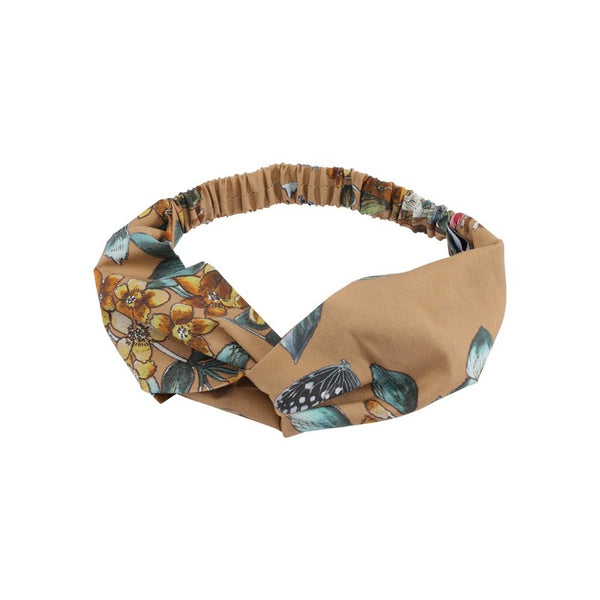 christina rohde floral hairband nougat, girl's eco-cotton headband