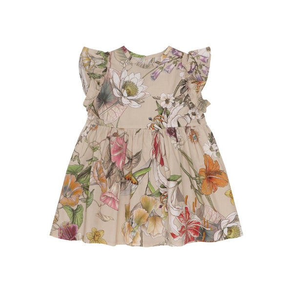 christina rohde floral baby dress ecru, baby's eco-cotton dresses