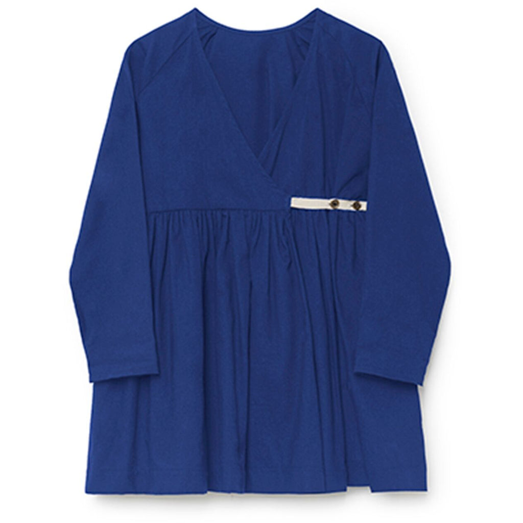 little creative factory wrap blouse blue - kodomo