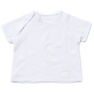omamimini baby t-shirt with print white