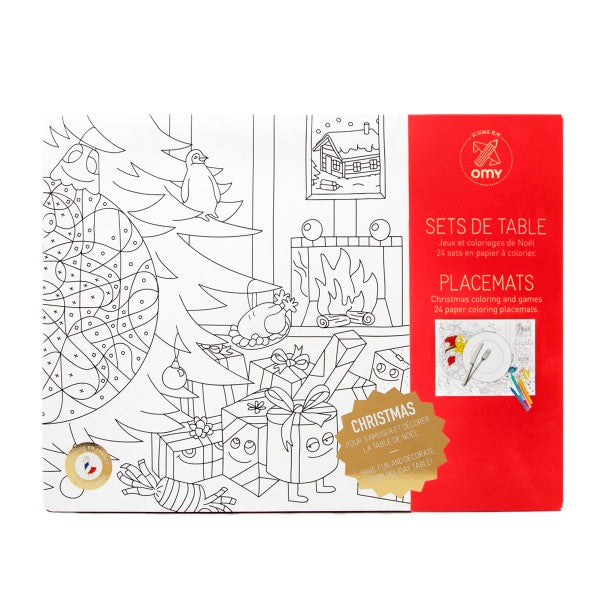 omy coloring placemats christmas - kodomo boston. free shipping.