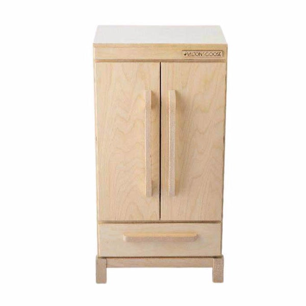 milton & goose refrigerator natural, kid's pretend play furniture