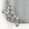 the bonnie mob pom shawl with hood and ears grey