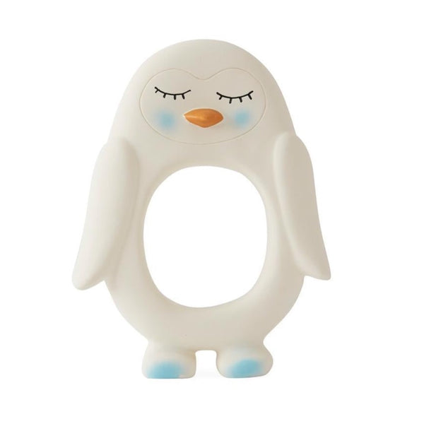 oyoy mini penguin baby teether white - kodomo boston