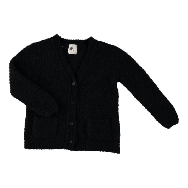 my little cozmo cloud cardigan black - kodomo boston, fast shipping, kids cardigans