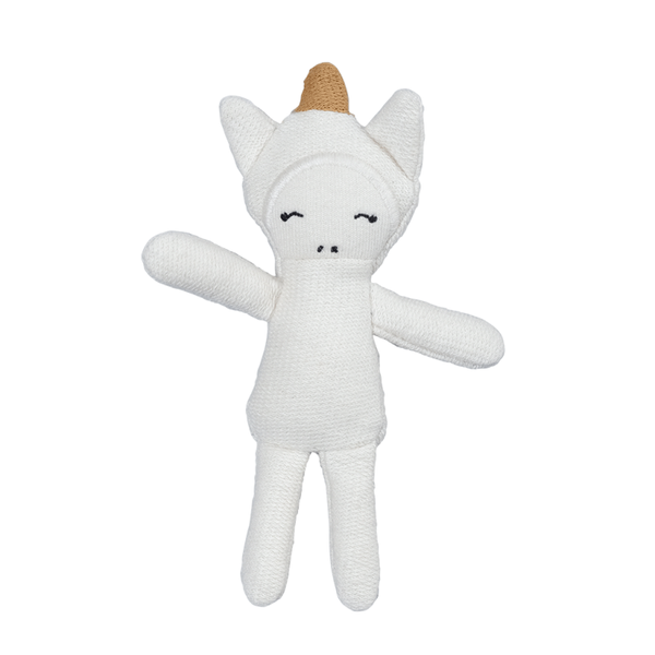 fabelab unicorn pocket friend, organic plush toys