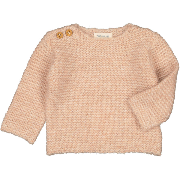 louis louise baby mousse sweater pink, best baby gifts available at kodomo boston. free shipping.