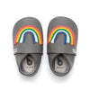 the bonnie mob & bubox imagine rainbow applique baby shoe grey. free shipping over $99 from kodomo boston