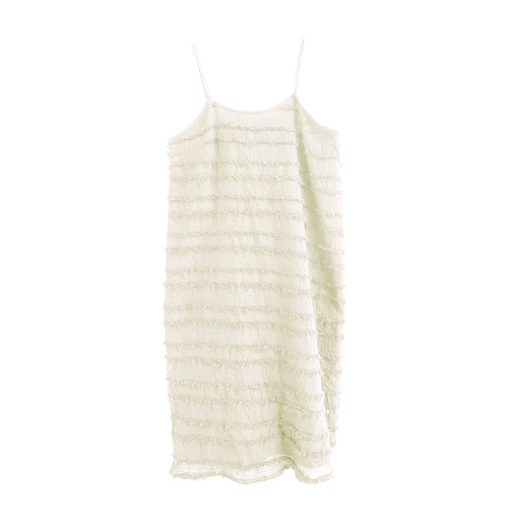 nico nico rowena striped dress natural - kodomo