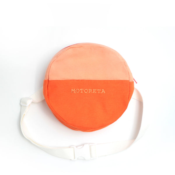 motoreta fanny pack pink and yellow - kodomo boston, fast shipping, new arrivals, kids bags