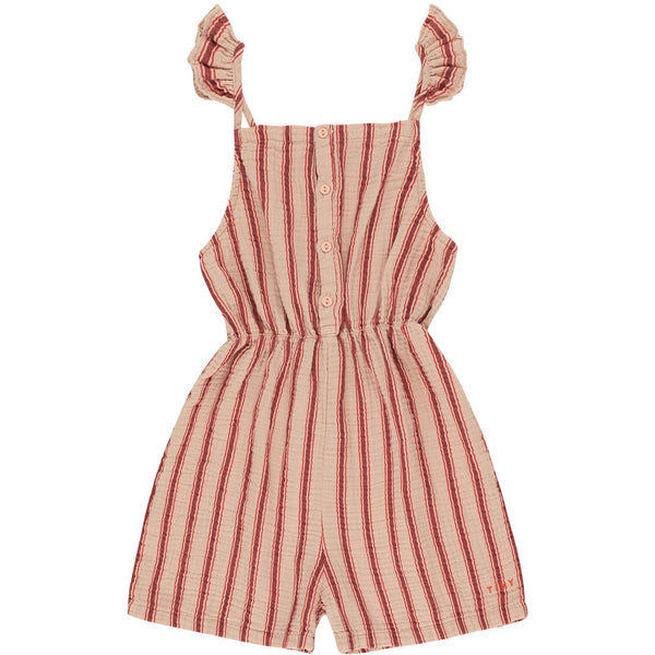 tinycottons retro stripes romper light nude dark brown, tinycottons ss20 dolce far niente at kodomo boston, free shipping