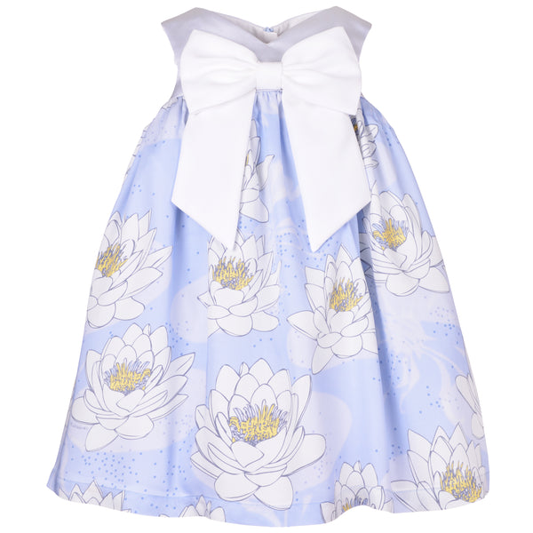 hucklebones sweetheart trapeze dress powder blue/daffodil, new dress styles for girls free shipping kodomo boston