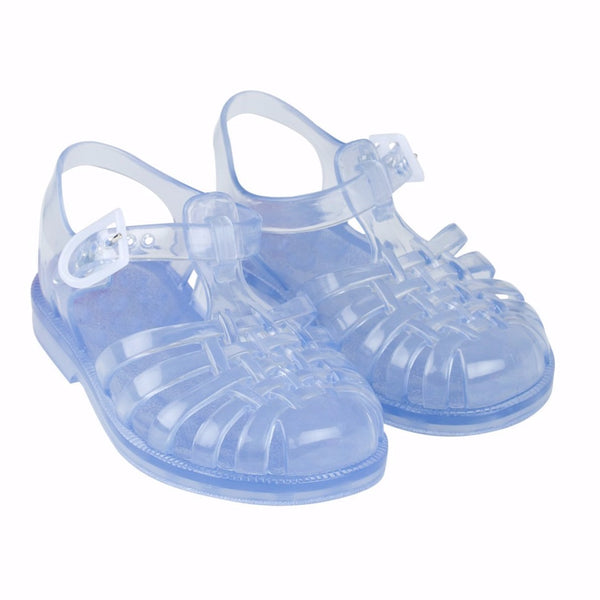 tinycottons jelly sandals transparent, kids summer shoes at kodomo boston