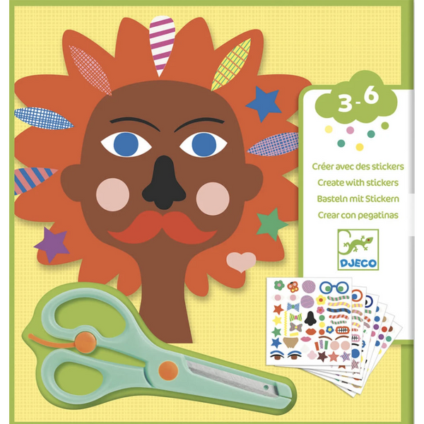 djeco sticker kits hairdresser, kid's arts and crafts
