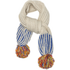 cabbages & kings ny pom scarf cobalt/silver sprinkle, hand knit alpaca winter accessories for kids at kodomo boston