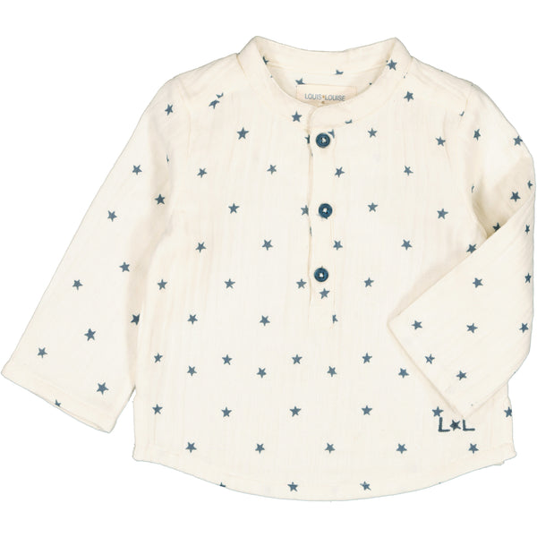 louis louise baby grand-pere shirt off white stars, best baby gifts from kodomo boston free shipping